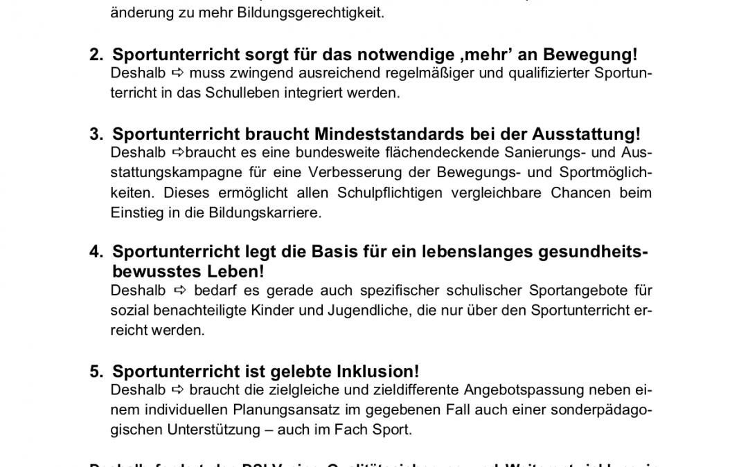 """Kieler """"Thesen"""" zum Sportunterricht"""