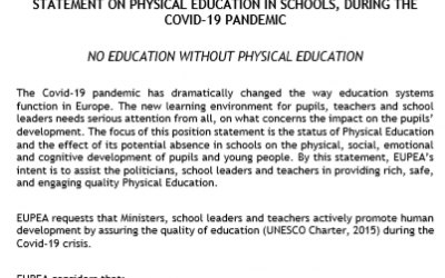 Positionspapier von der EUPEA: NO EDUCATION WITHOUT PHYSICAL EDUCATION