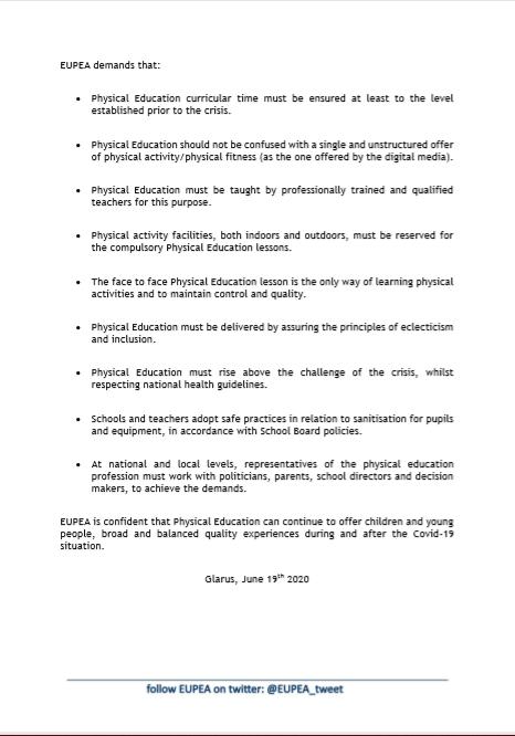 EUPEA Positionspapier