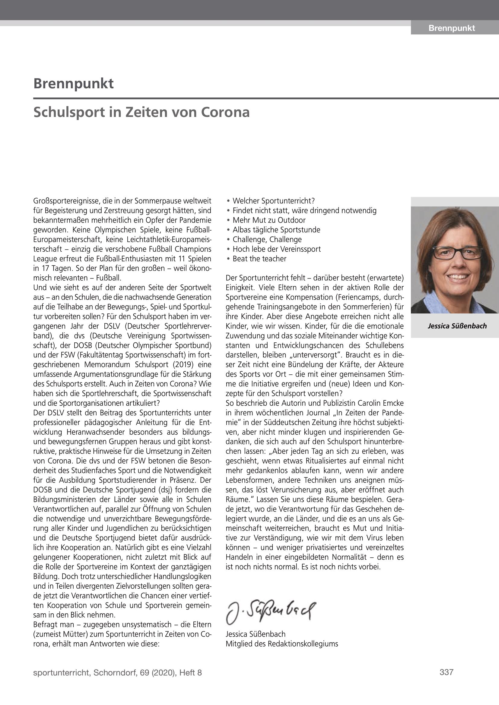 Brennpunkt Ausgabe August 2020