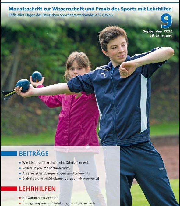 Neue Ausgabe der Zeitschrift Sportunterricht: September 2020