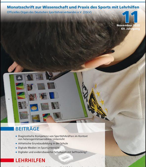 Neue Ausgabe der Zeitschrift Sportunterricht: November 2020