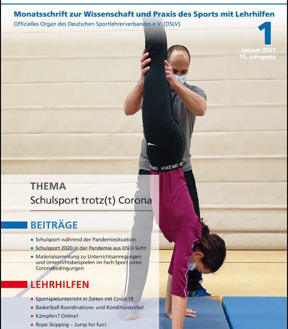 Neue Ausgabe der Zeitschrift Sportunterricht: Januar 2021