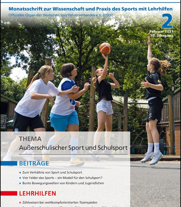 Neue Ausgabe der Zeitschrift Sportunterricht: Februar 2021