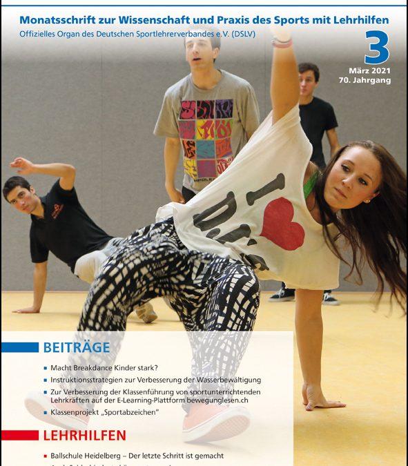 Neue Ausgabe der Zeitschrift Sportunterricht: März 2021