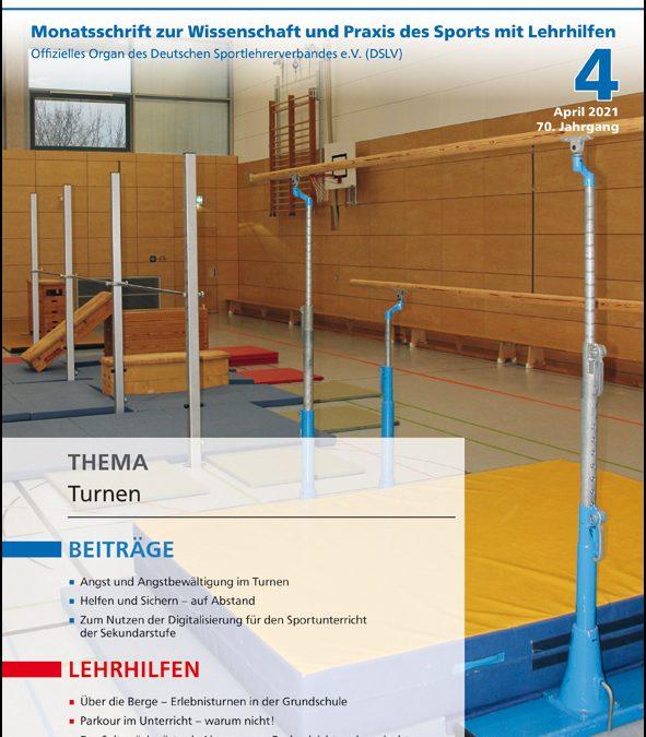 Neue Ausgabe der Zeitschrift Sportunterricht: April 2021