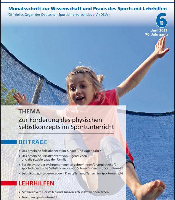 Neue Ausgabe der Zeitschrift Sportunterricht: Juni 2021