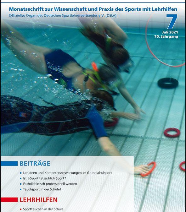 Neue Ausgabe der Zeitschrift Sportunterricht: Juli 2021