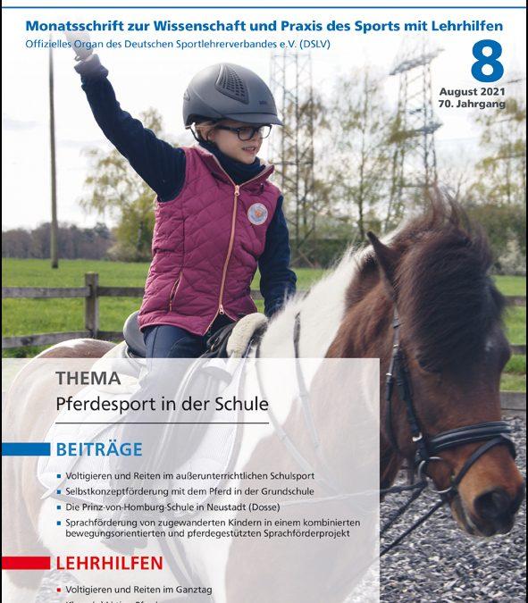 Neue Ausgabe der Zeitschrift Sportunterricht: August 2021