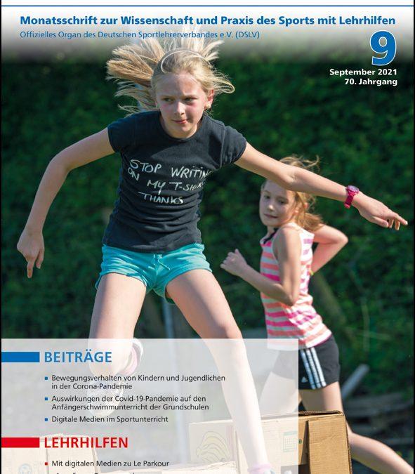 Neue Ausgabe der Zeitschrift Sportunterricht: September2021