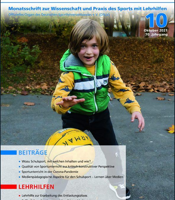 Neue Ausgabe der Zeitschrift Sportunterricht: Oktober 2021